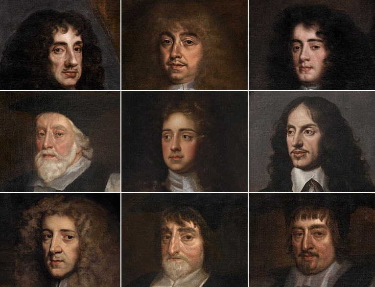 """- """"The ten Restoration governors whose portraits now hang in the Great Chamber represent the full spectrum of warring views."""""""