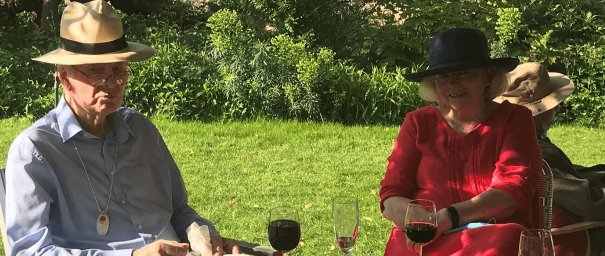 Rory MacPherson and Gillie Bengough at the Charterhouse